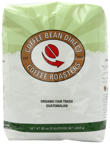 Guatemalan, Organic Fair Trade Whole Bean Coffee, 5-Pound Bag