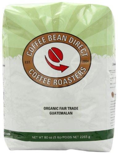 Guatemalan, Organic Fair Trade Whole Bean Coffee, 5-Pound Bag