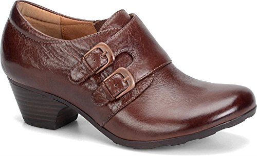 Women's Sofft 'Dacia' Leather Clog Sturdy Brown 10 M