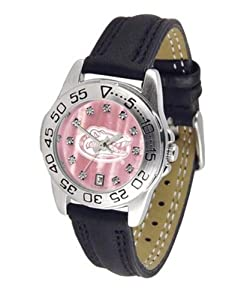 University of Florida Gators Ladies Leather Pink Sports Watch by SunTime