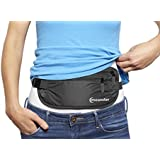 Money Belt Hidden Travel Wallet, Passport Holder for Men and Women, Rip-Stop Nylon Water Resistant Fanny Pack, Secure Pouch to Keep Passports, Currency, Keys, Jewelry, Credit Cards and Important Documents Safe