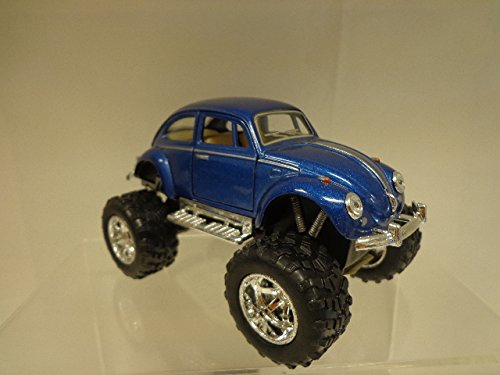 Kinsmart Scale Diecast 1967 Volkswagen Classical Beetle Off Road Wheels in Color Blue