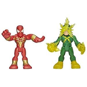 Playskool Heroes Marvel Super Hero Adventures Iron Spider Man and Electro Figures