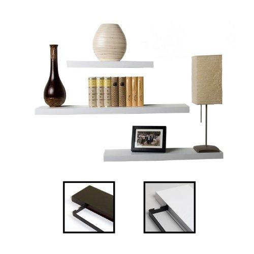 STILISTA-Designer-Wandregal-Saliento-3er-Set-hohe-Belastbarkeit-Strke-37cm-Farbwahl-Wei-und-Schwarzbraun-Wandbord-freischwebend-Wandboard-Board-Bcherregal-Hngeregal-CD-DVD-Lounge-Regal