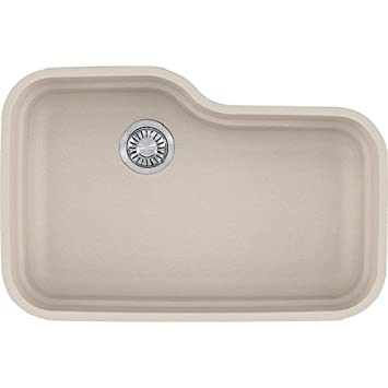 Franke ORG110CHA Orca Granite Undermount Single Bowl Kitchen Sink, Champagne