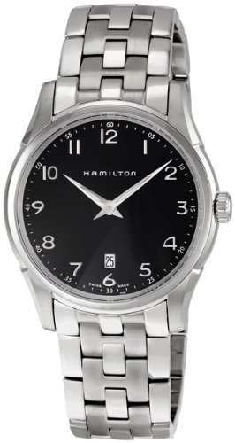 Hamilton Men's HML-H38511133 Jazzmaster Thinline Black Dial Watch