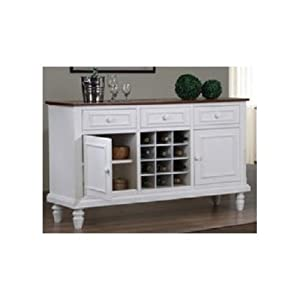 white cottage sideboard buffet server. Black Bedroom Furniture Sets. Home Design Ideas
