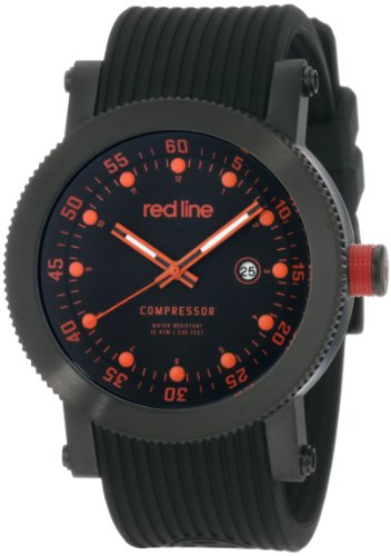red line Men's 18001-BB-010R Compressor Collection Watch (Red Line Orange Dial Watch compare prices)