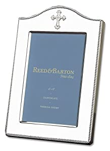 Reed & Barton Abbey Collection Tarnish Resistant Silver-plated Cross 4-by 6-Inch Picture Frame