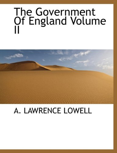The Government Of England Volume II