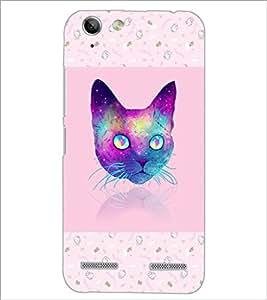 PrintDhaba Cat D-3464 Back Case Cover for LENOVO LEMON 3 (Multi-Coloured)