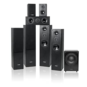 fluance av series 7 1 surround sound home cinema speaker system with floorstanding. Black Bedroom Furniture Sets. Home Design Ideas