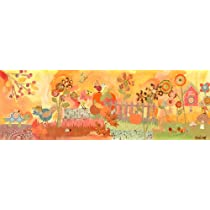 Oopsy daisy Fall Birdies Stretched Canvas Wall Art by Winborg Sisters 36 by 12-Inch