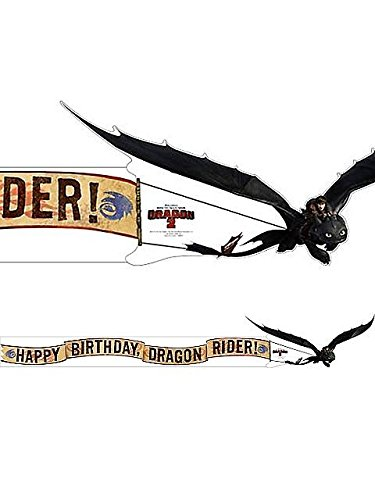 "How to Train Your Dragon 2 ""Happy Birthday Dragon Rider"" Banner 5.75 Ft"