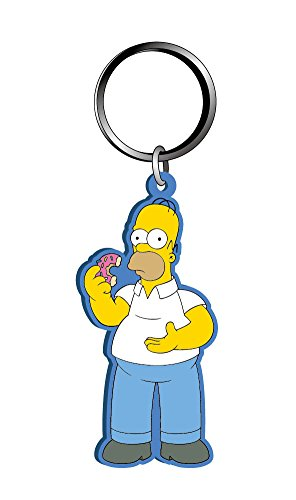 Fox Homer Simpson Soft Touch PVC Keyring