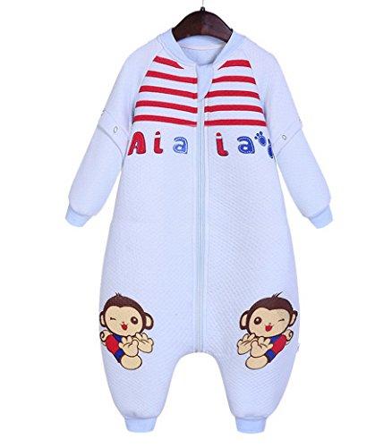 8b1268cdb41e9 Happy Cherry 2 en 1 Pyjama Sac de Couchage Grenouillères Gigoteuse Enfant Bébé  Fille Garçon Combinaison