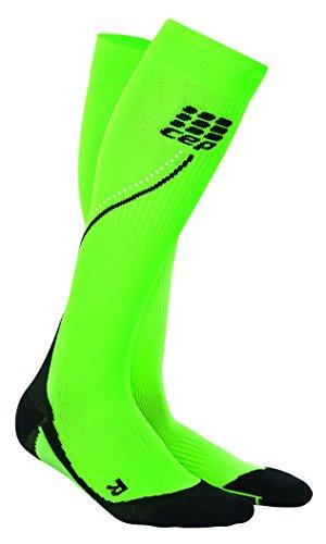 CEP Pro+ Night Run Socks Compression Socks 2.0 Men Flash Green Black III
