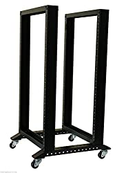 Rising 28U 5FT 4 Post Open Frame 19'' Data Network It Server/Audio Rack'' 25'' Deep