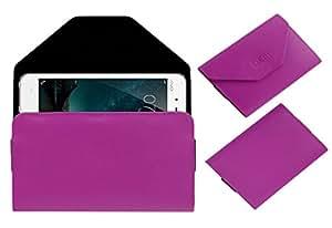 Acm Premium Pouch Case For Vivo V3 Flip Flap Cover Pink