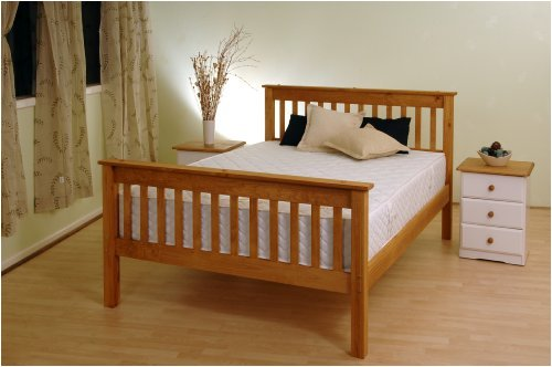 SOMER SET PINE WOOD SINGLE BEDSTEAD