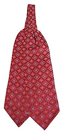 Victorian Mens Ties 100% Silk Deco Pattern Ascot $37.95 AT vintagedancer.com