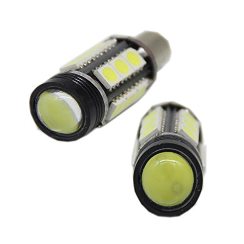 Generic H21W Bay9S Canbus High Power Super Bright White 5W High Power 15-Smd + 3W Cob Led Lights Bulbs Color White
