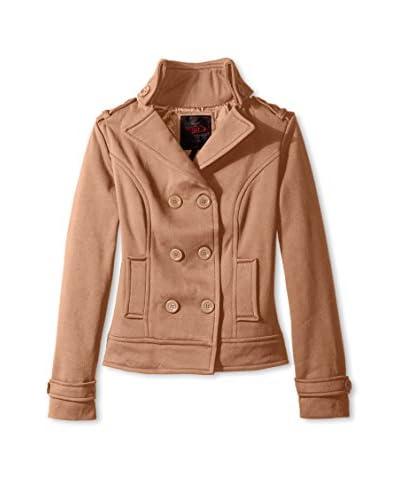 Yoki Women's Double-Breasted Fleece Jacket  [Camel]