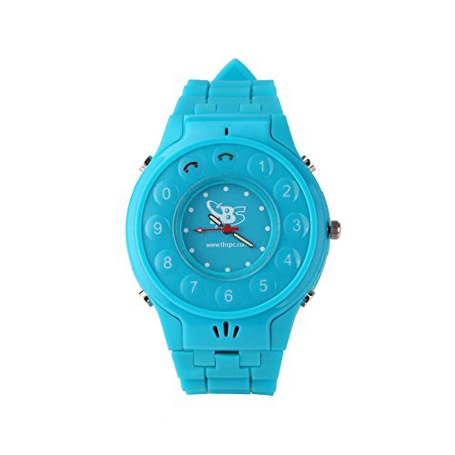 Tbs®3202 New Generation Kids Wrist Watch Phone With Real Gps Tracker /Children Safe Security/ Sos Surveillance/Audio Remote Monitor For Kids (Light Blue) front-63991