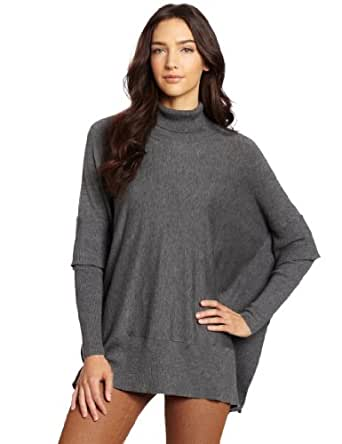 Design History Women's End Jersey T-Neck Sweater, Chrome ...