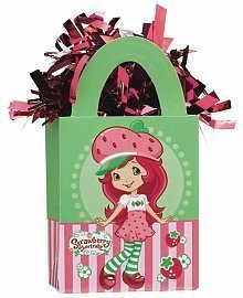 Strawberry Shortcake Mini Tote Balloon Weight - 5.5 In. x 3 In. Each by AMSCAN