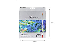 48-color Raffine Marco Fine Art Colored Pencils/ Drawing Pencils for Sketch/ Secret Garden Coloring Book (Not Included) (48-Color)