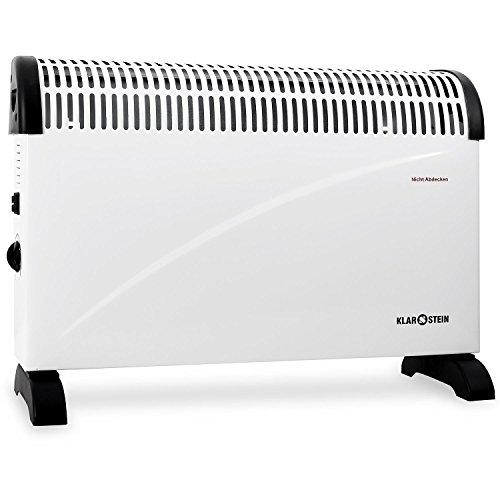 Klarstein HT004CV radiatore elettrico (elegante termosifone, convettore, 2000 Watt, timer, possibilità di montaggio a parete, maniglia per facilitarne il trasporto) - bianco