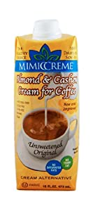 MimicCreme Cream Substitute,Almond & Cashew Cream 32-Ounce Aseptic Boxes (Pack of 4)