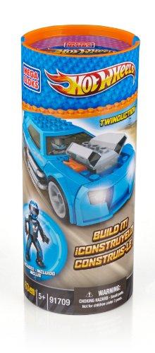 Mega Bloks 91709 - Hot Wheels Twinduction, blau