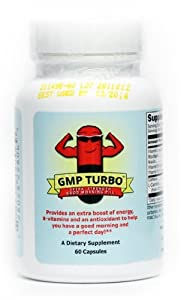 Good Morning Pill Turbo - Extra Strength Energy Vitamin Supplement (200mg Caffeine + Vitamins) (60 Capsules)