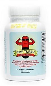 Good Morning Pill Turbo - Extra Strength Energy Vitamin Supplement (200mg Caffeine + Vitamins) (60 Capsules)