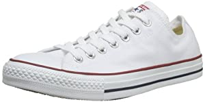 Converse Chuck Taylor All Star Core Ox - Zapatillas de lona unisex, color blanco (optical white), talla 37