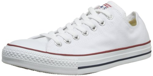 CONVERSE Chuck Tailor All Star Ox Canvas - Sneakers unisex - adulto, colore Bianco ( Optical White ), taglia 45