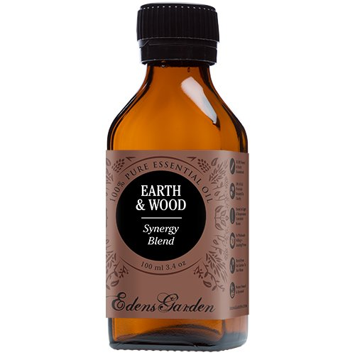 Earth & Wood Synergy Blend Essential Oil by Edens Garden (Cardamom, Cedarleaf, Cedarwood, Fir Needle, Patchouli and Sandalwood)- 100 ml