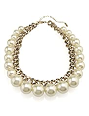 Limited Collection Faux Pearl Rock Collar Necklace