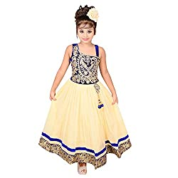 ahhaaaa's Yellow Beautiful Dress/Gown with inner for Girls