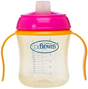 Dr. Brown's Soft Spout Training Cup, 6 Ounce, Colors May Vary