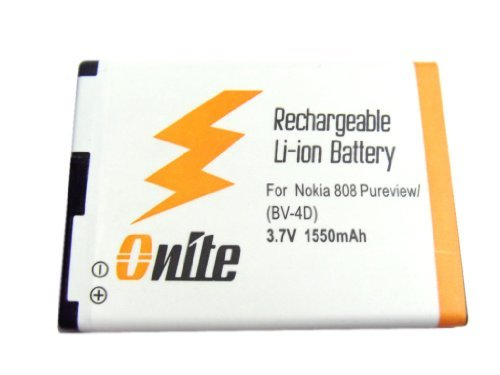 Onite® 1550Mah Li-Ion Battery For Nokia 808 Pureview Rm-807, Bv-4D