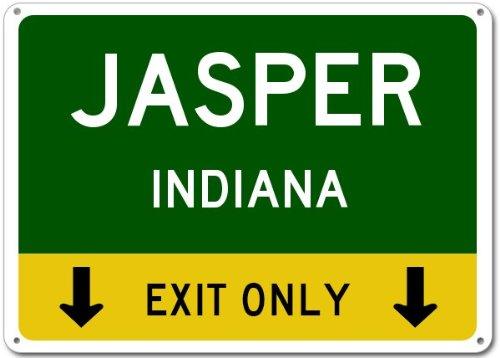 Jasper, Indiana road sign