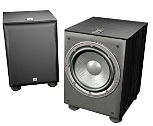 JBL Northridge E150P 10-Inch Powered Subwoofer with 150-Watt Digital Amplifier, Single (Black Ash)