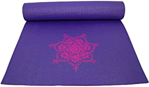Buy Colorful Yoga Mats (TM) 1 4 Extra-Thick Enhanced Classic Yoga, Pilates & Exercise Mat - Purple with Pink Lotus... by Colorful Yoga Mats (TM)