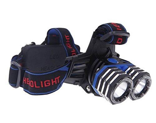 Camping 4000Lm 2* Xm-L T6 Led Headlight Headlamp 4-Mode Lamp Light + Car Charger