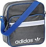 Adidas Originals Adiclor Sir Bag Trefoil Logo Mini Shoulder Bag Flight Airline Bag Grey/Blue W61992 New (Grey/Blue)