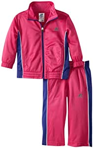 Russell Athletics - Kids Girls 2-6X Brushed Tricot Set with Side Insert, Pink Mineral, 3T