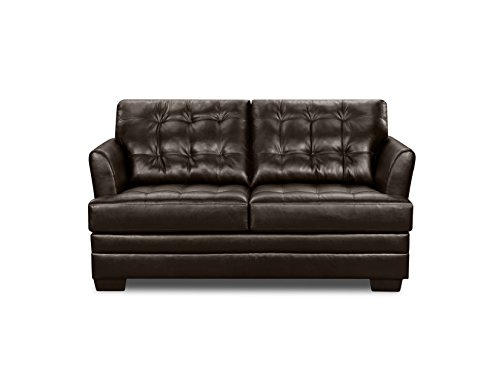 Simmons Upholstery 2055-02 Manhattan Espresso Loveseat front-866552